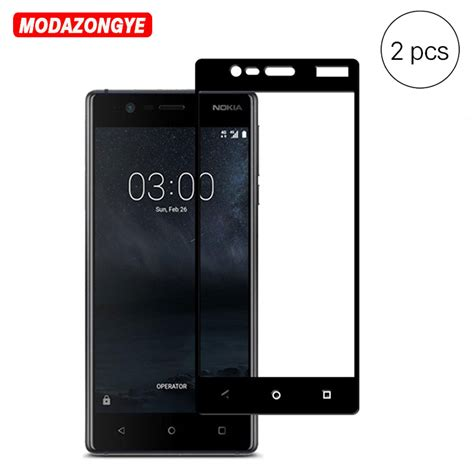New Tempered Glass Nokia 3 2pcs for nokia 3 tempered glass nokia 3 2017 screen protector cover tempered glass for