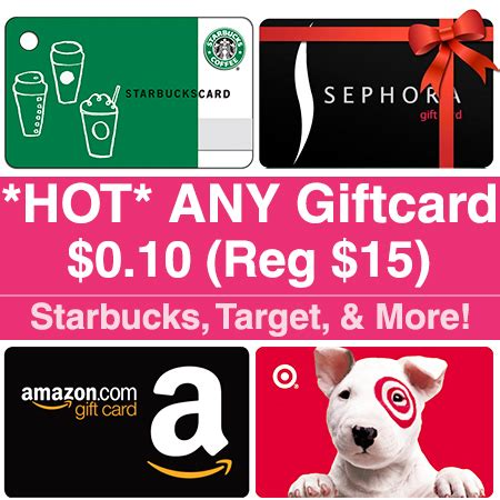 How To Get Cashback From Target Gift Card - hot 0 10 for any 15 gift card starbucks target