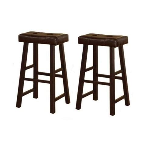 Brown Saddle Bar Stools by 29 Inch Espresso Brown Leather Saddle Bar Stools Set Of 2