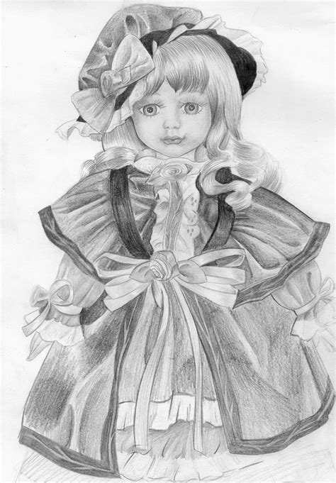 porcelain doll drawing porcelain doll by itachi on deviantart
