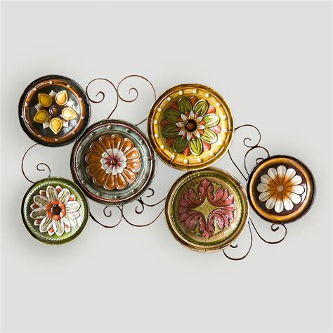 decorative plates wall delfina italian scattered plates wall world market