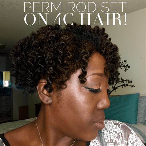old fashioned home perms natural hair perm rod set on 4c hair this curvy girls life