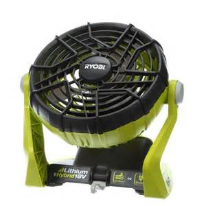 battery powered fan home depot ryobi one 18 volt hybrid portable fan tool only p3320