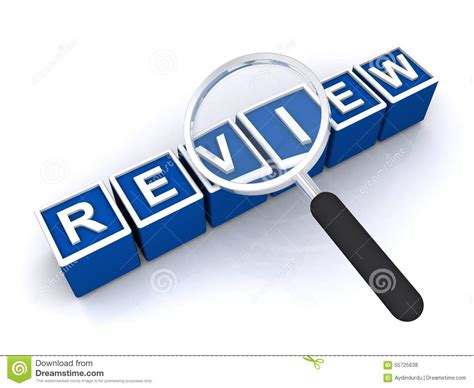 blue review review stock photo image 55725638