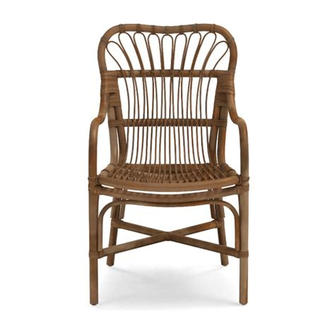 bamboo armchair st martin rattan dining armchair williams sonoma