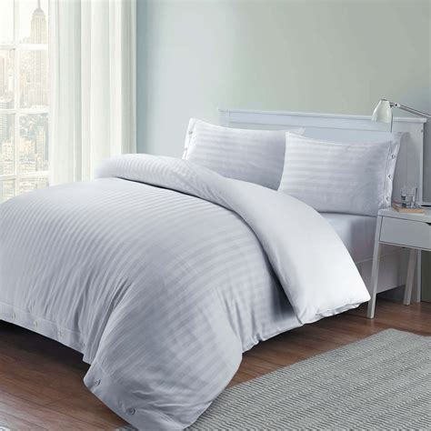Quality Duvet Covers 100 Luxury Hotel Quality Cotton Satin Stripe