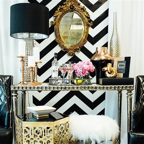 black white and gold home decor hollywood style home decor and design ideas shoproomideas