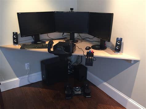 Flight Desk by How To Build A Corner Desk For A Flight Simulator Design