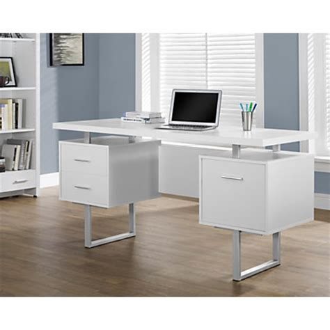 retro home office desk monarch retro style computer desk white by office depot