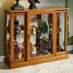 Curio Cabinet Oak Pulaski Golden Oak Iii Console Curio Display Cabinet 6715