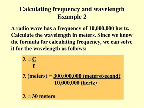 frequency of light calculator ppt wave crests powerpoint presentation id 36456