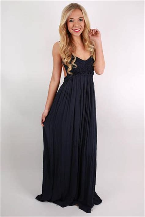 Zanana Maxi Navy Sweat Shop the grand reveal maxi dress in navy impressions s clothing boutique