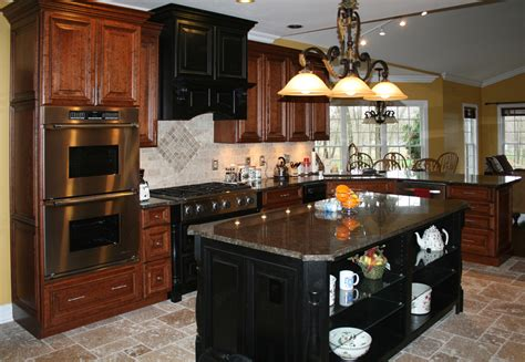 black distressed kitchen cabinets dark cherry color kitchen cabinets and isles best home
