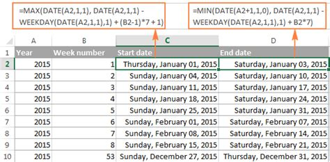 convert date format php to another excel weeknum function convert week number to date and