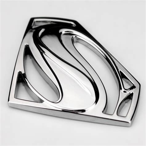 Emblem Superman Chrome 3d 3m chrome emblem auto logo superman badge metal