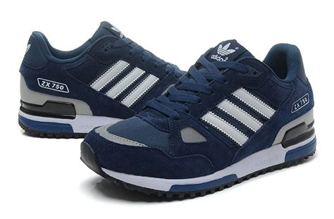 classic adidas zx 750 casual running shoes blue gray black white new style