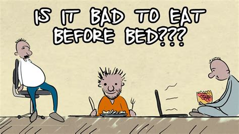 why is it bad to eat before bed videos health chronicle