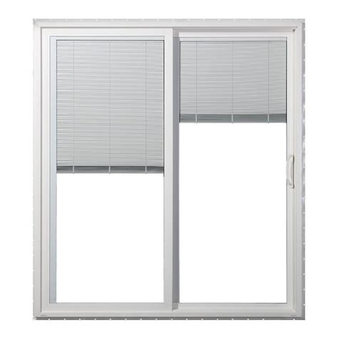 Vinyl Patio Door Jeld Wen 72 In X 80 In Right Premium Vinyl Sliding Patio Door With Tilt And Raise Mini