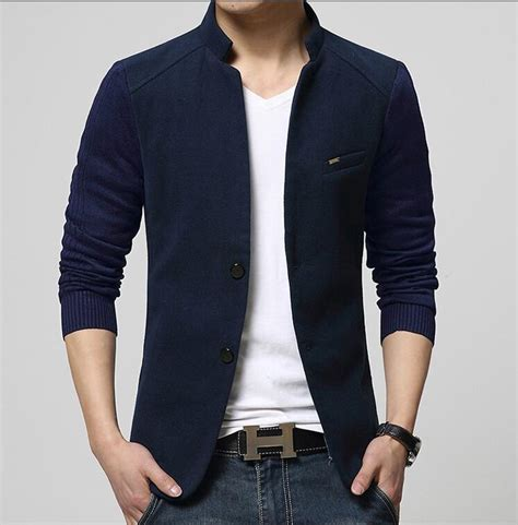 Arden Blazer High Quality new high quality casual patchwork blazer slim fit stand collar mens jackets and coats brand