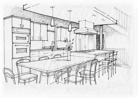 Kitchen Design Sketch Sketch Pad Kitchen Or Cabinet Showroom Remodeling Magazine Kitchen Sketch Magic Marker