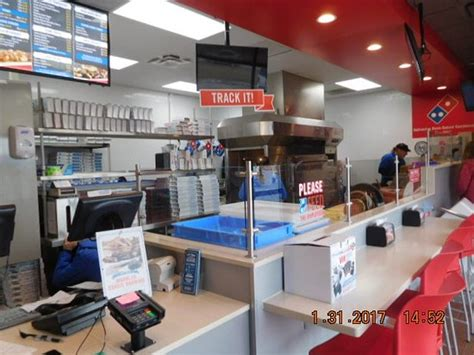 domino pizza rest area front counter order area picture of domino s pizza