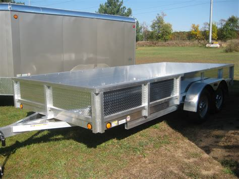 with trailer aluminum utility trailer atp series aluminum deck w
