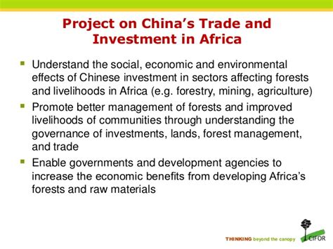 Trade And Investment In China forest related implications of trade and