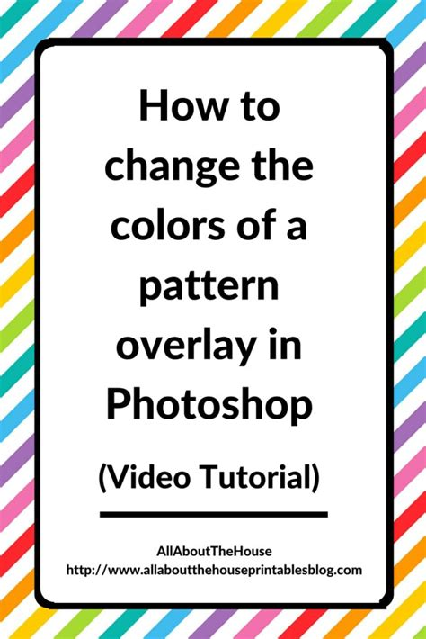 Change Pattern Overlay Color Photoshop | how to change the colors of a pattern overlay in photoshop