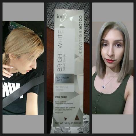 blond brillance toner and volume developer toner used ion color brilliance in platinum lace mix 2