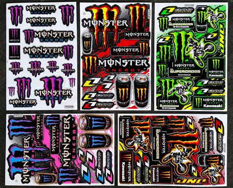 Monster Aufkleber Orange by 60x Monster Energy Drink Aufkleber Sticker Atv