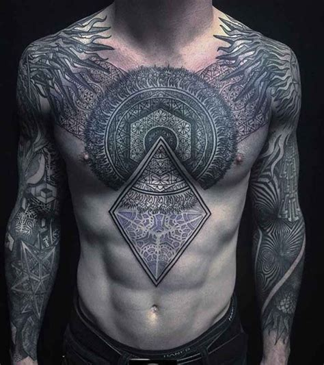 complex tribal tattoos complex ornament on chest best ideas gallery