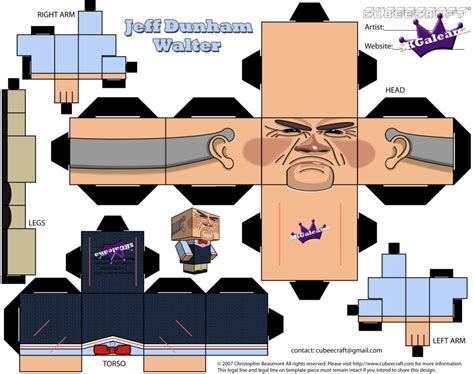 Papercraft Person - cubeecraft of the puppet walter jeff dunham by skgaleana