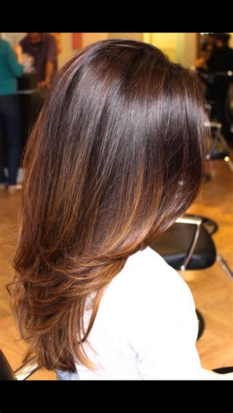 medium length sombre sombr 233 perfect brunette color on long hair hair cuts