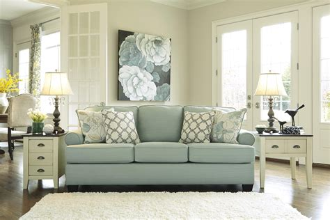 daystar seafoam sleeper sofa ashley signature design daystar seafoam contemporary