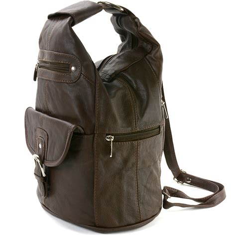 Backpack 3in1 2 womens leather backpack purse sling shoulder bag handbag 3 in 1 convertible new ebay