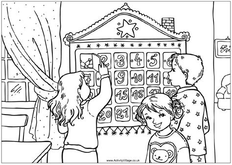 christmas tree advent calendar coloring page advent coloring pages