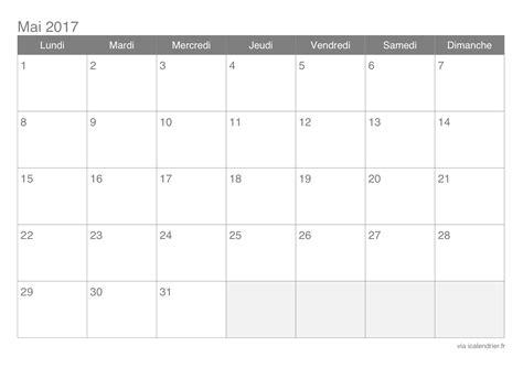 S2017 Calendar Calendrier Mai 2017 224 Imprimer Icalendrier