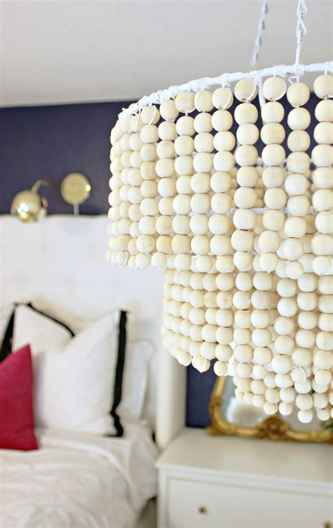 Diy Wooden Bead Chandelier A Beautiful Mess