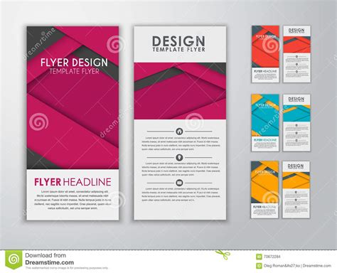 material design leaflet set of colored flyers material design stock vector image