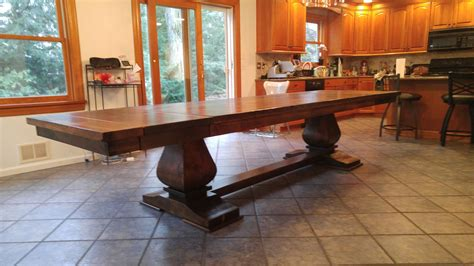 custom extendable ft ft hand crafted dining table
