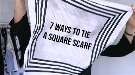 styling 7 ways to tie a square scarf