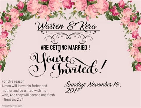 Create Wedding Photo Collages Fast Easy Postermywall Wedding E Invite Template
