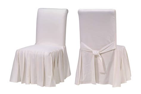white cotton duck slipcovers cotton duck white pleated dining chair slipcovers free