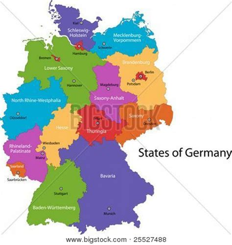 regional map of germany colorful germany map regions vector photo bigstock