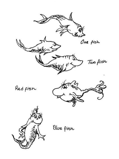 one fish two fish outline | Dr. Seuss | Pinterest