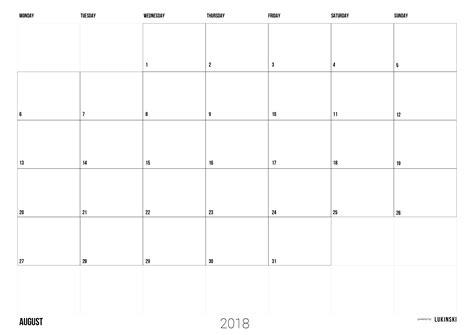 in design kalender kalender 2018 zum ausdrucken pdf monatskalender kostenlos