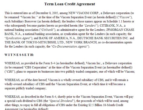term loan template 28 images loan agreement template