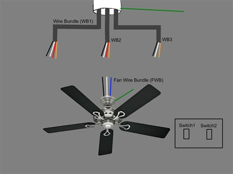 wiring ceiling fan with light kit wiring free engine