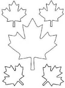 maple leaf cut out templates of canada day coloring pages