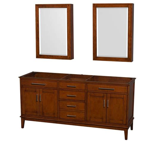 Medicine Cabinet With Vanity Lights Wyndham Collection Hatton 71 In Vanity Cabinet With